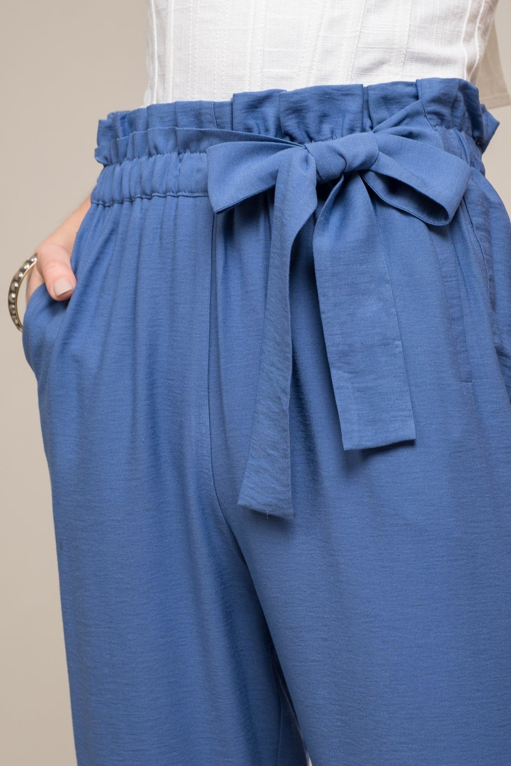 Moon River Alyza Bow Pants - Front Full Image