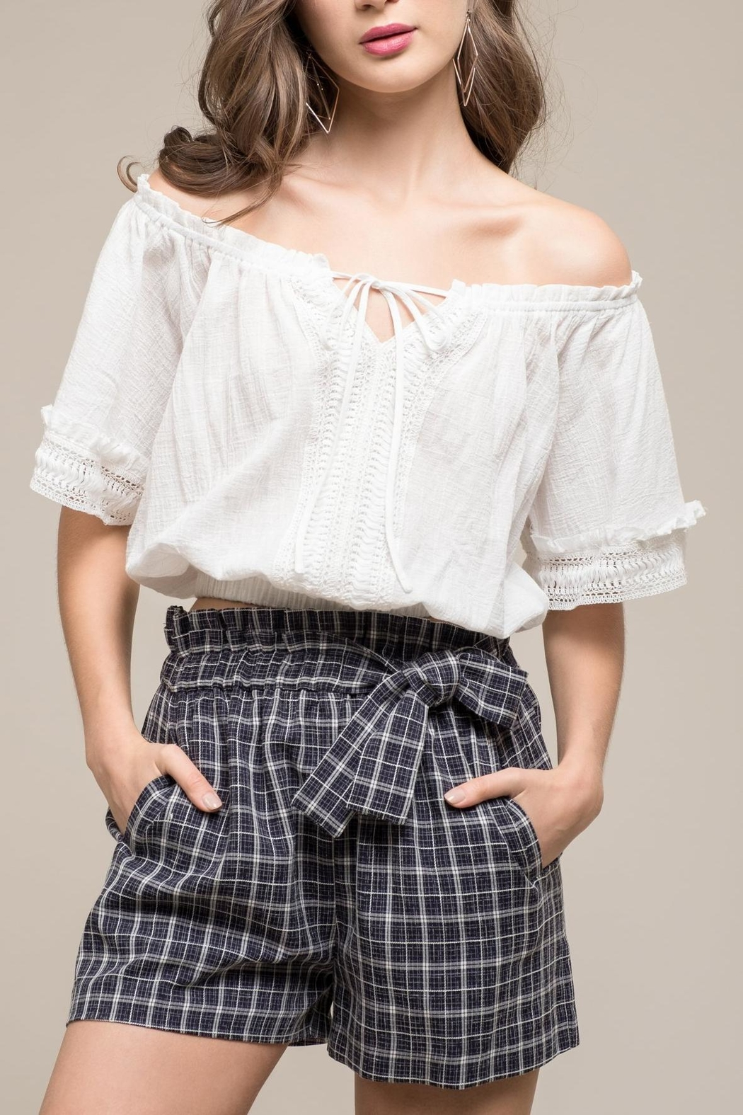 Moon River Amaya Crop Top - Front Cropped Image