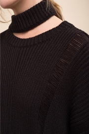 Moon River Asymmetric Destroyed Sweater - Side cropped