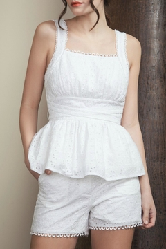 Moon River Belted Sleeveless Top - Product List Image