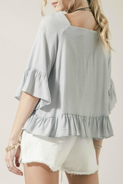 Moon River Blue Ruffle Top - Alternate List Image