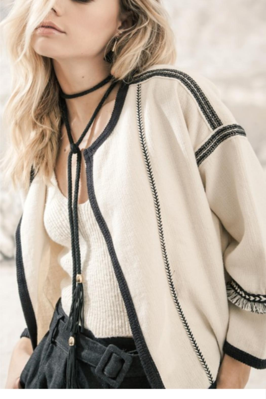 Moon River Boxy Fringe Jacket - Main Image