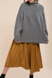 Moon River Boxy Mock Neck Sweater - Product Mini Image