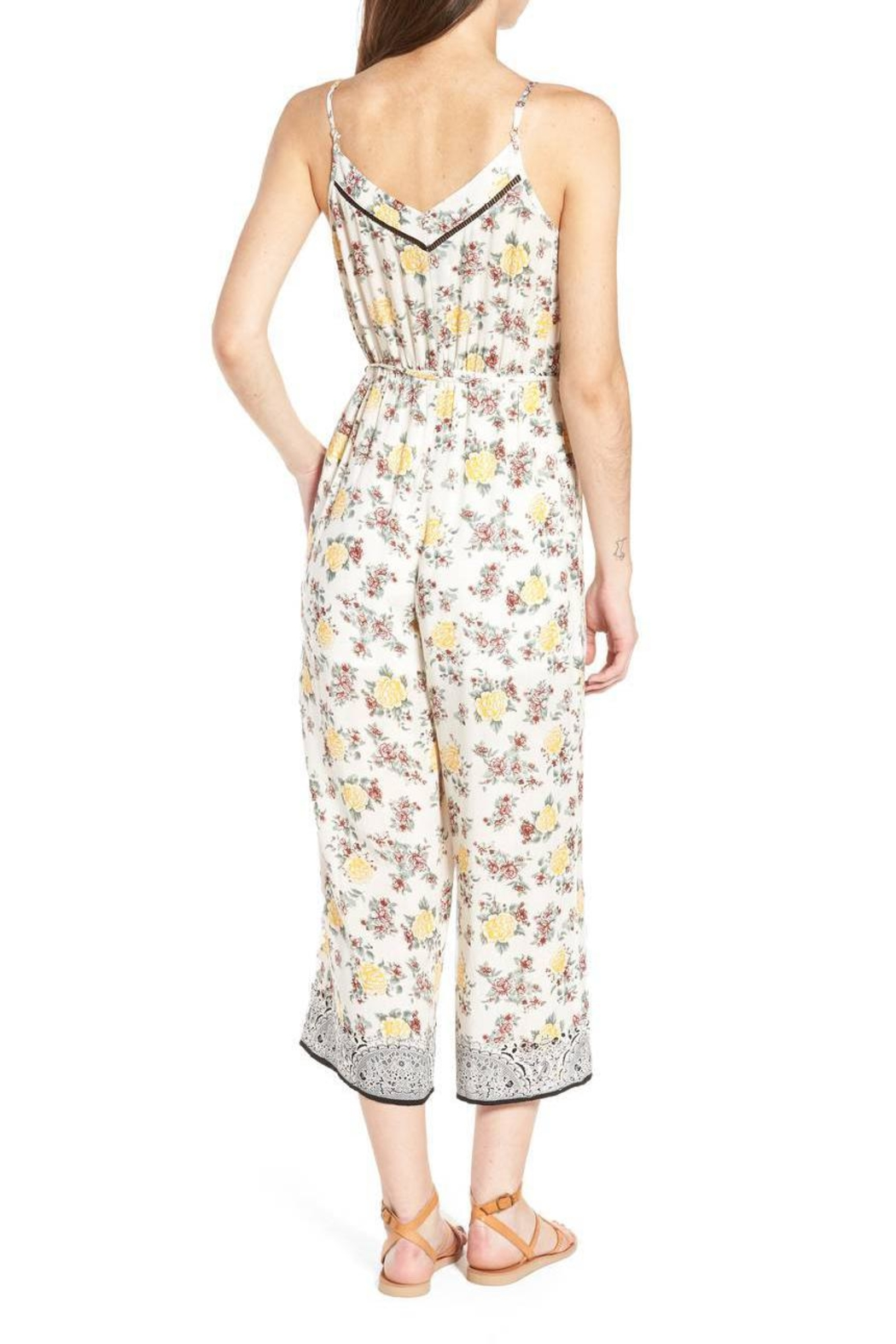 Moon River Canary Jumpsuit - Side Cropped Image
