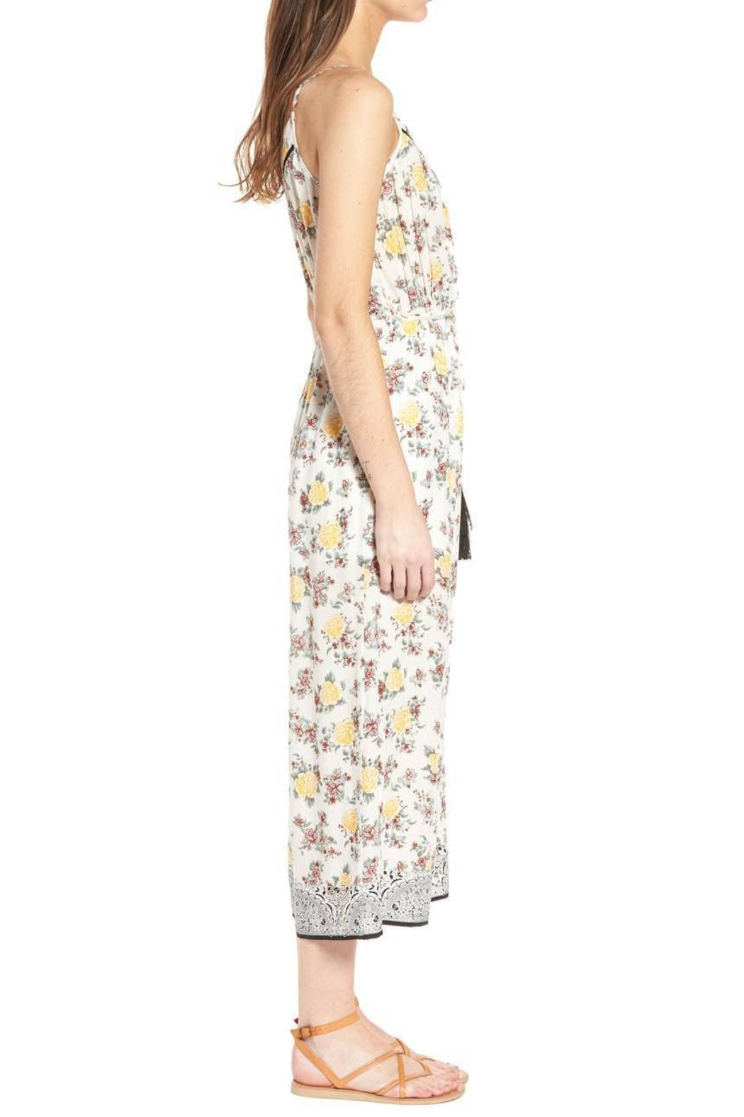 Moon River Canary Jumpsuit - Front Full Image