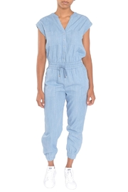 Moon River Denim Blue Jumpsuit - Product Mini Image