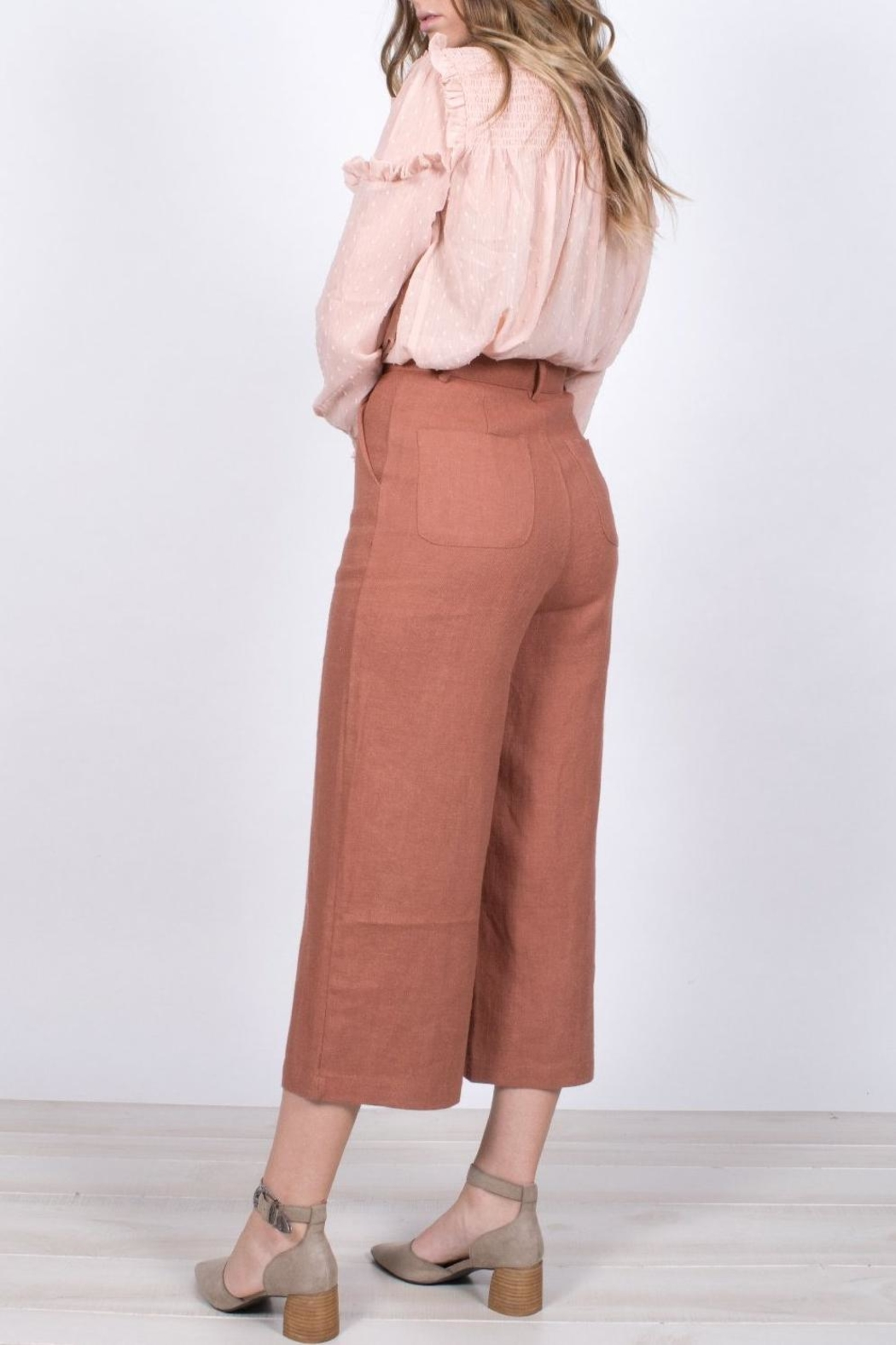 Moon River Cropped Wide-Leg Pants - Front Full Image