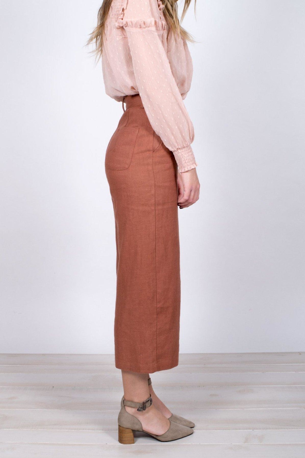 Moon River Cropped Wide-Leg Pants - Back Cropped Image
