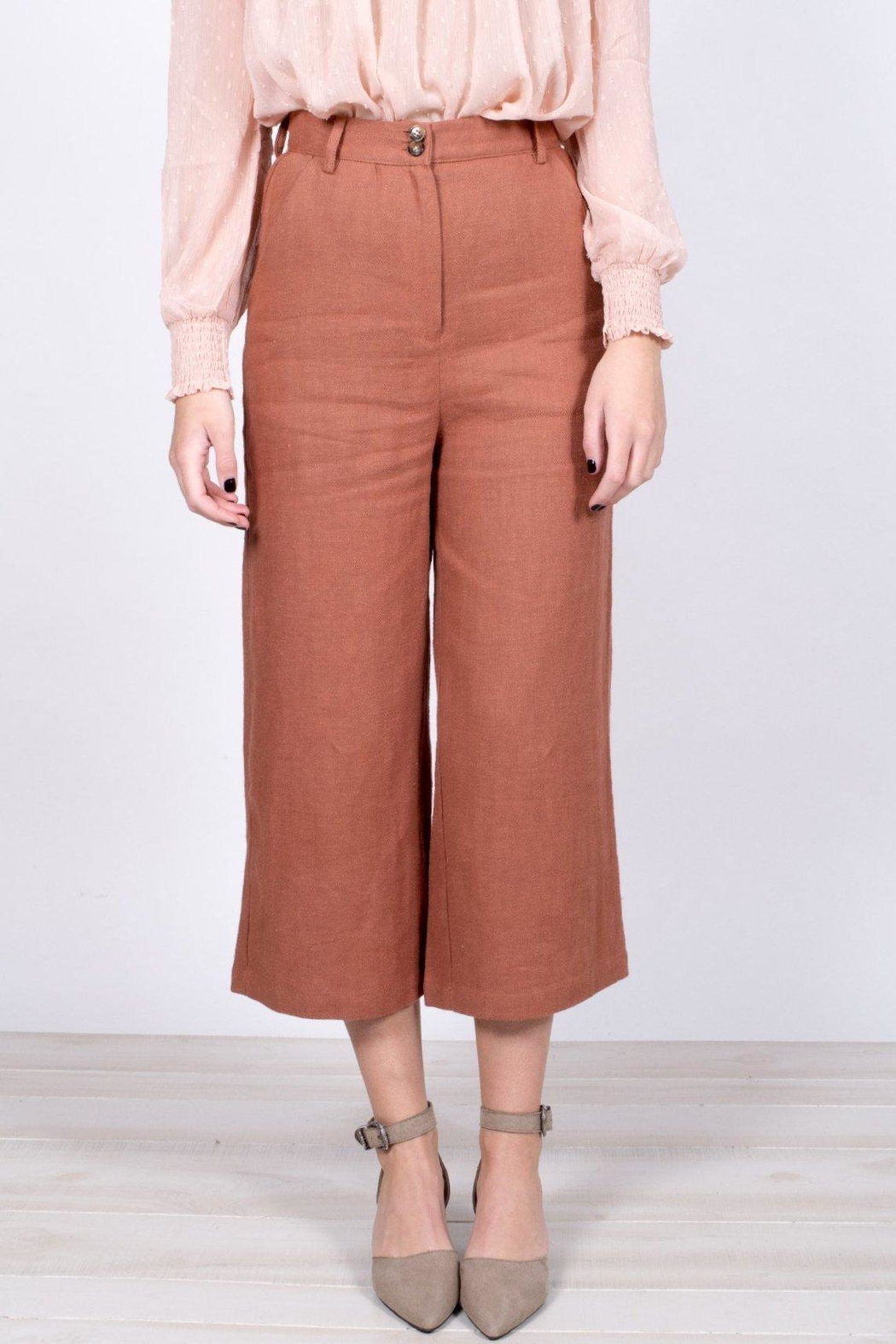 Moon River Cropped Wide-Leg Pants - Side Cropped Image