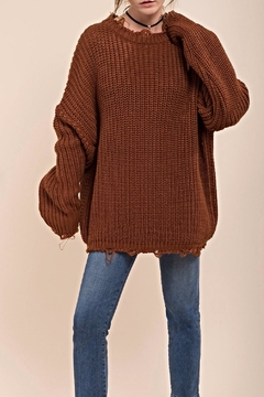 Moon River Distressed Chunky Sweater - Alternate List Image