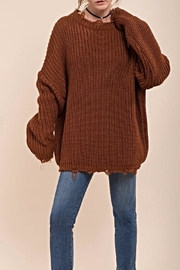 Moon River Distressed Chunky Sweater - Product Mini Image