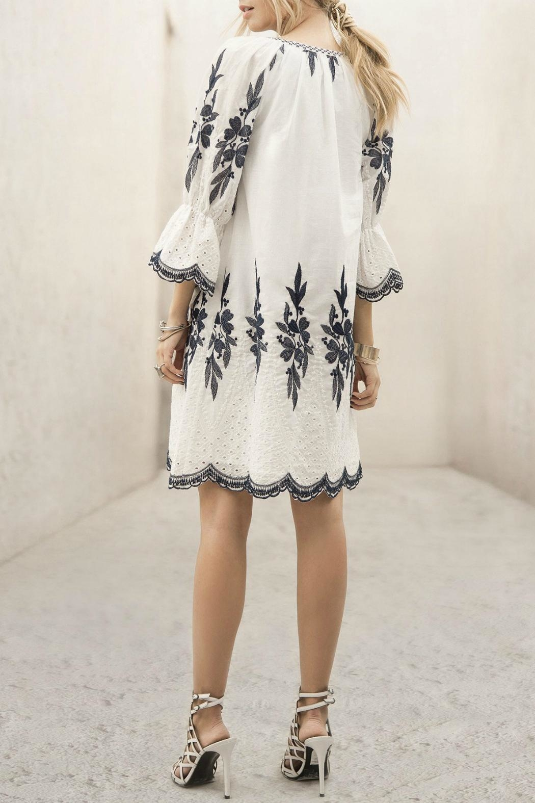 Moon River Embroidered Dress - Side Cropped Image