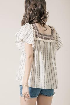 Moon River Embroidered Peasant Top - Alternate List Image