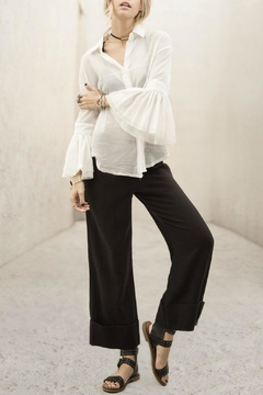 Moon River Flared Sleeve Blouse - Product List Image