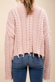 Moon River Fray Twist Sweater - Back cropped