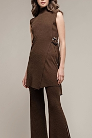Moon River Khaki Tunic Sweater - Product Mini Image
