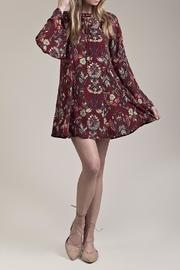 Moon River Burgandy Floral Dress - Product Mini Image