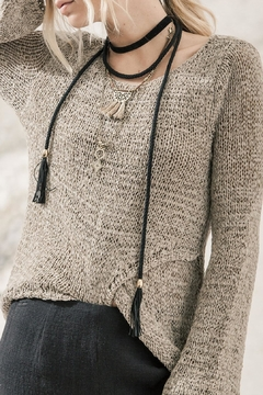 Moon River Mocha Knit Top - Product List Image