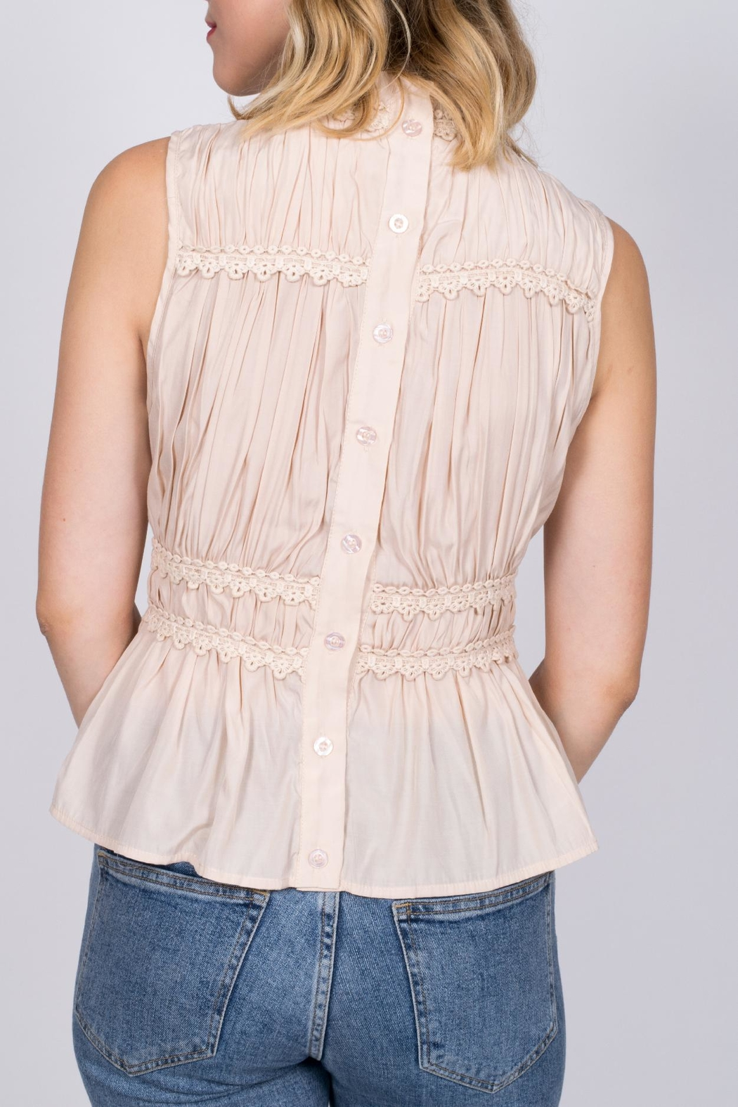 Moon River Mock Neck Top - Front Full Image