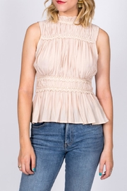 Moon River Mock Neck Top - Front cropped
