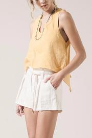 Moon River Mustard Tie Top - Product Mini Image