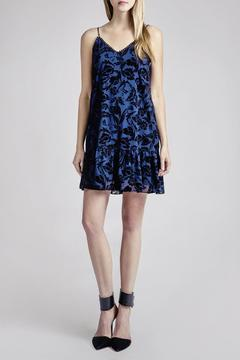 Shoptiques Product: Navy Patterened Dress