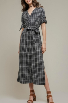 Shoptiques Product: Navy Plaid Dress