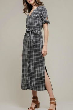 Moon River Navy Plaid Dress - Alternate List Image