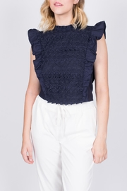 Moon River Navy Ruffle Top - Other