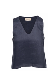 Moon River Navy Tie Top - Product Mini Image