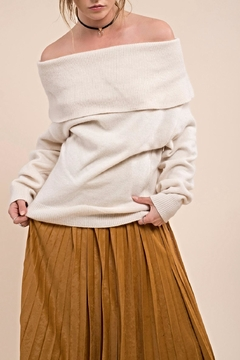 Moon River Off Shoulder Sweater - Product List Image
