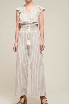 Moon River Ruched Waist Jumpsuit - Product List Image