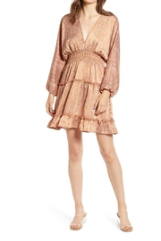 Moon River Ruffle Trim Mini-Dress - Product Mini Image