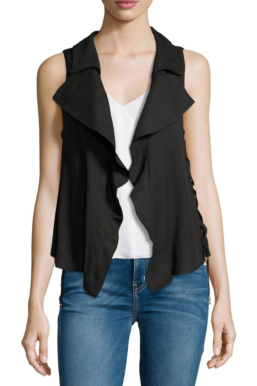 Moon River Split Back Lace-Up Vest - Main Image