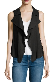 Moon River Split Back Lace-Up Vest - Front cropped