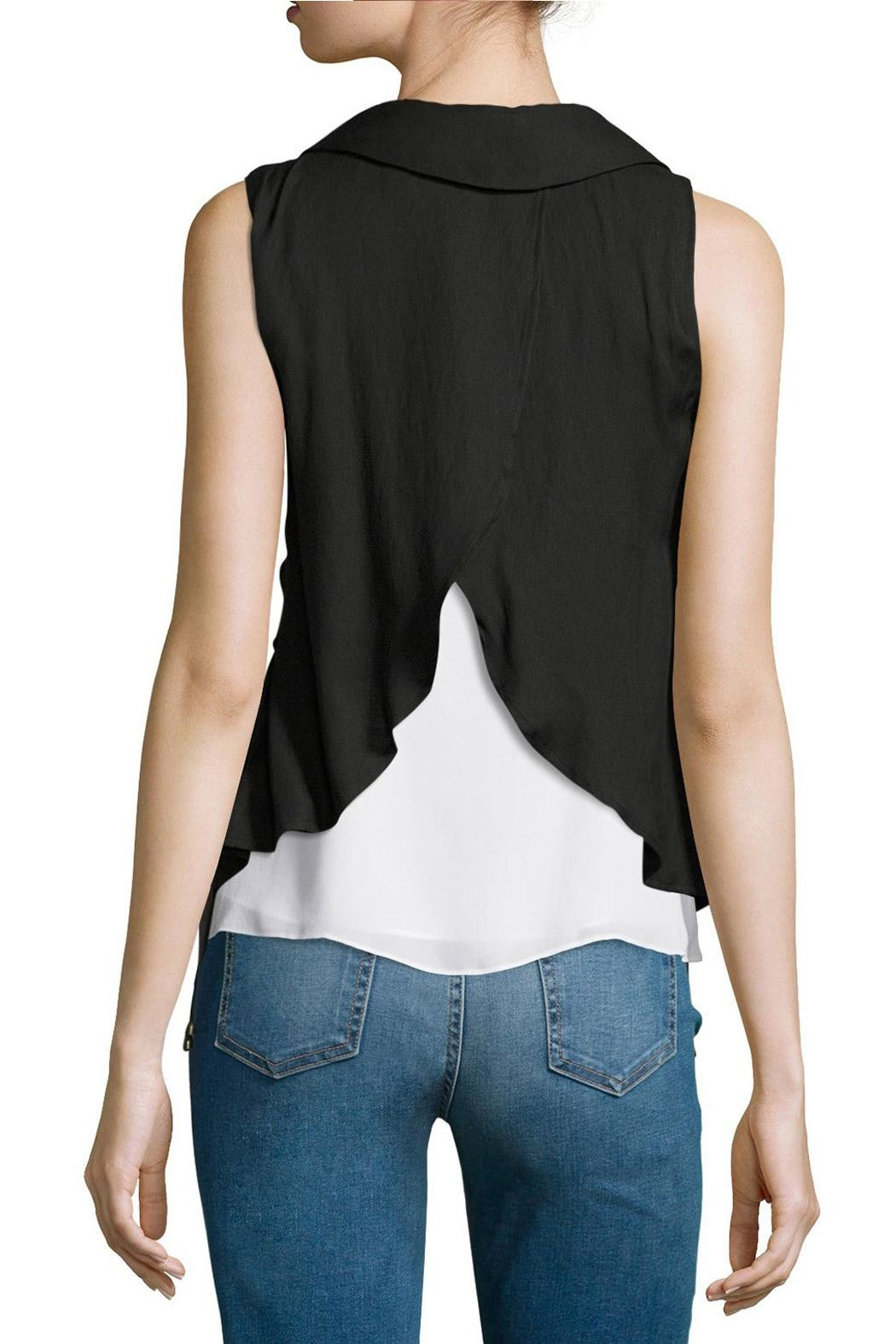 Moon River Split Back Lace-Up Vest - Front Full Image