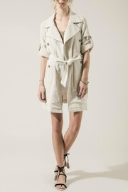 Moon River Summer Linen Trench - Product Mini Image
