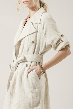 Moon River Summer Linen Trench - Alternate List Image