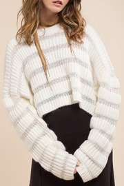 Moon River Variation Textured Sweater - Front cropped