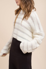 Moon River Variation Textured Sweater - Side cropped