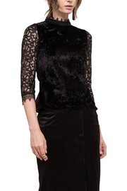 Moon River Velvet Lace Top - Product Mini Image