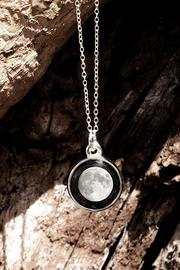 Moonglow Jewelry Charmed-Simplicity Moon Necklace - Front full body