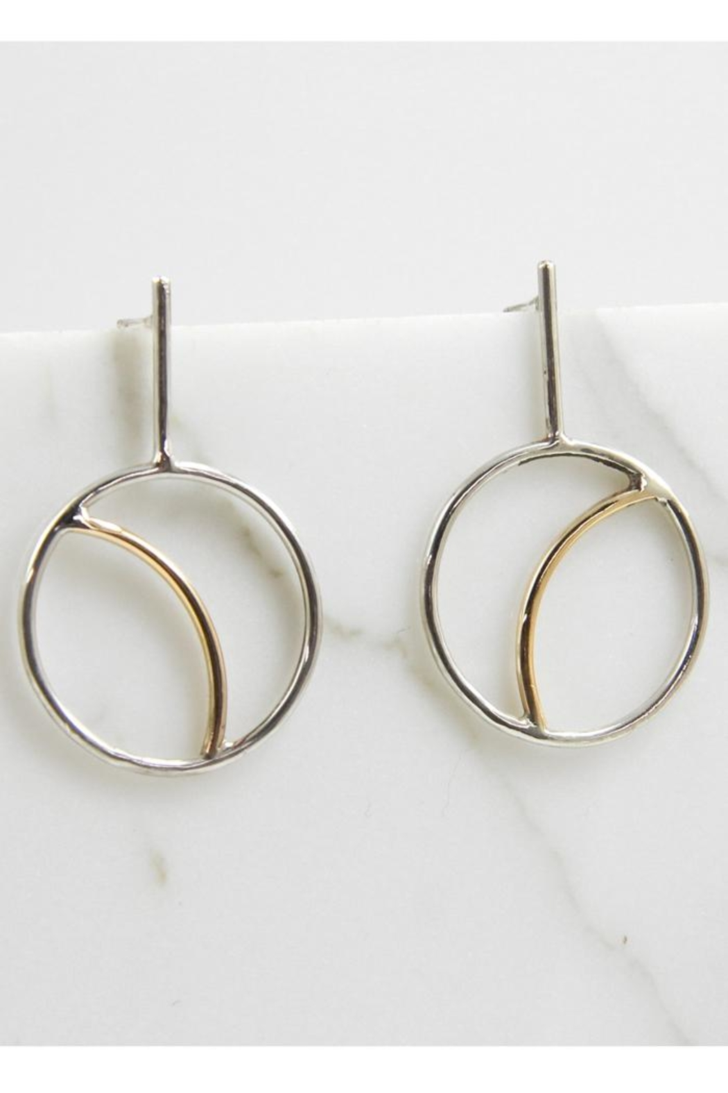 MOONLINE Crescent Moon Earrings - Side Cropped Image