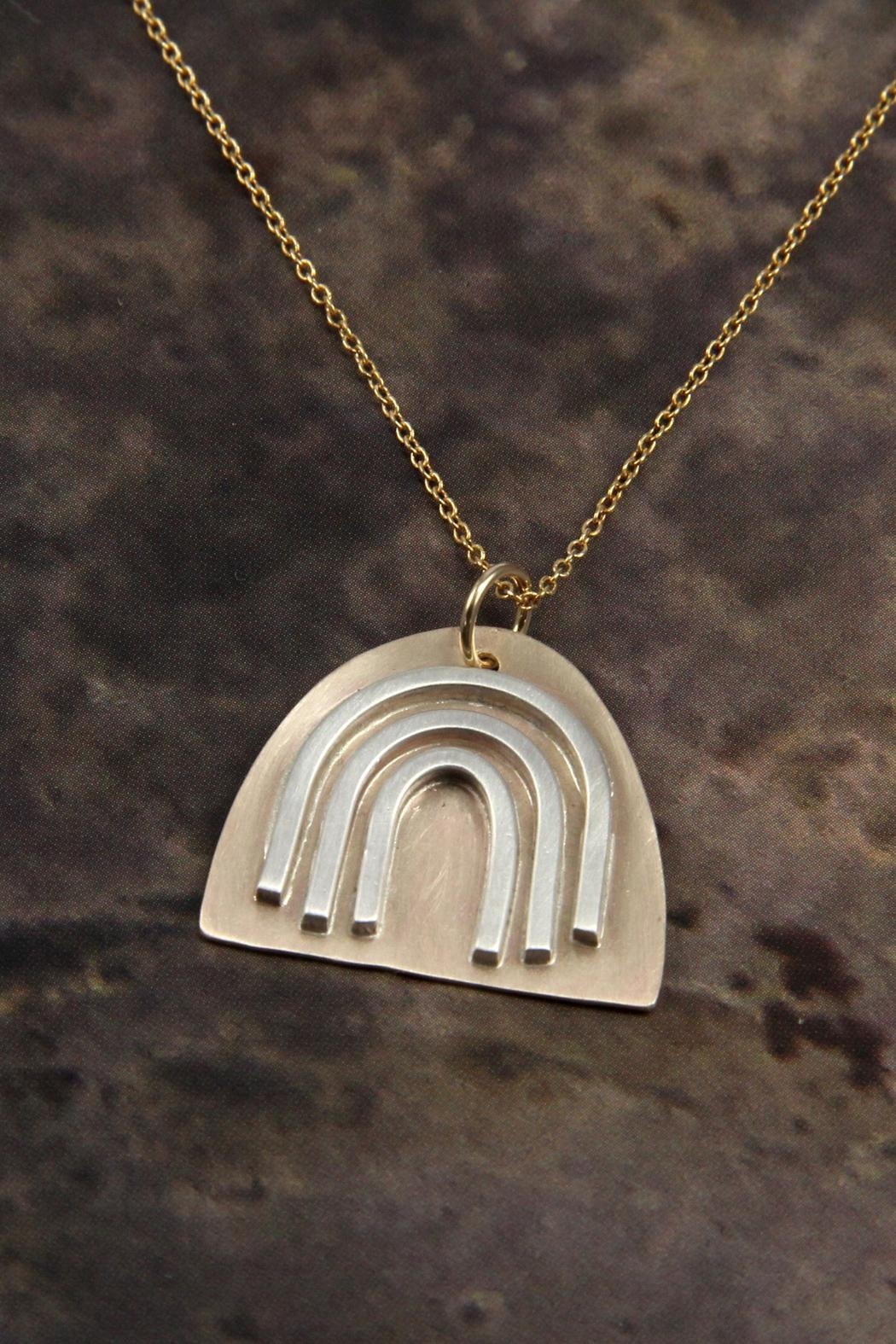 MOONLINE Gold Rainbow Necklace - Side Cropped Image