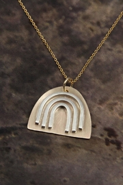 MOONLINE Gold Rainbow Necklace - Side cropped