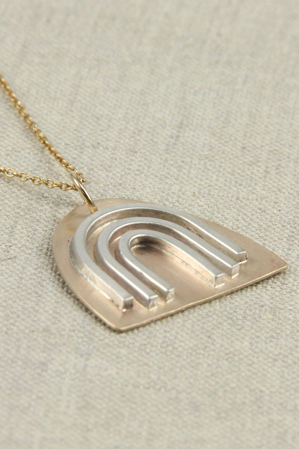 MOONLINE Gold Rainbow Necklace - Front Full Image
