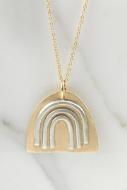 MOONLINE Gold Rainbow Necklace - Product Mini Image