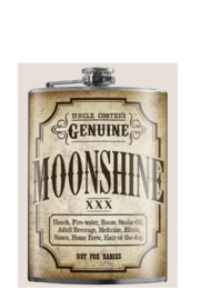 Trixie & Milo Moonshine Flask - Front cropped