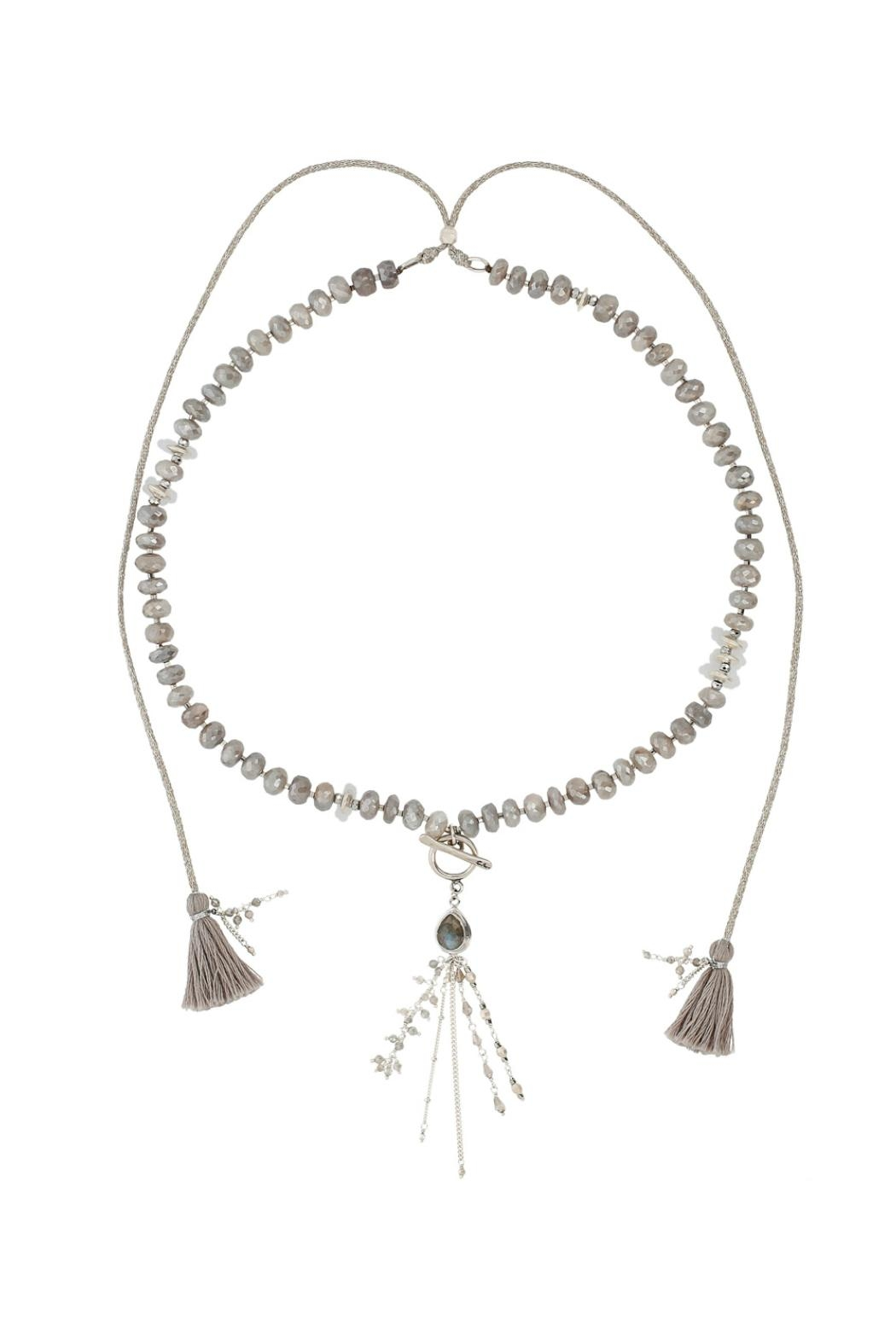 Chan Luu Moonstone Adjustable Necklace - Front Cropped Image