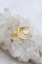 Mesa Blue Moonstone Crescent Moon Ring - Product Mini Image